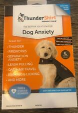 Thundershirt Dog Large 41-64 lbs Gray Solution Anxiety Thunder Fireworks Travel