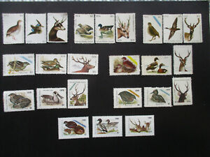 8  COMPLETE  SETS  VICTORIAN  HUNTING  STAMPS - 1973 to 1980. - $2 ; $3 ; $10.