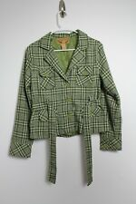 Vintage Body Central Green Plaid Jacket Size Large