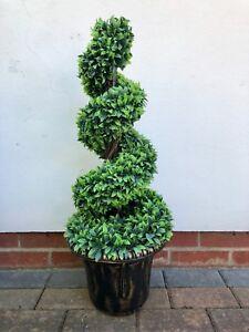 BRAND NEW ARTIFICIAL TOPIARY TREE SPIRAL DESIGN INDOOR OUTDOOR POTTED GARDEN