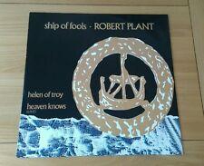 "Robert Plant Ship Of Fools 1988 Euro 12"" Single A1 B1 Classic Rock Led Zeppelin"