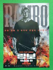 Rambo Last Blood 2019 Korean Mini Movie Posters Movie Flyers (A4 Size) Jeondangi