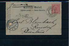 ÖSTERREICH 1898 5Kr, Karten-Brief BRODARICA/BARCAGNO (Dalmatien) Kl:50P!