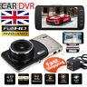 "4"" In Car Camera Recorder Dual Front + Rear HD 1080p Dash Cam Night Vision UK"
