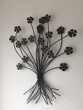 Contemporary Metal Wall Art Décor Sculpture-Élégant Couleur Bronze Fleur