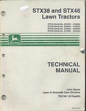 John Deere TM1561 Technical Manual STX38 and STX46 Lawn Tractors