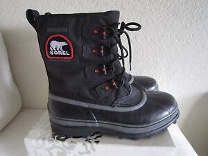 SOREL Mens Caribou XT Boots Removable Liner Thermal Sz 10  #NM2138-010