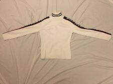 Tommy Hilfiger Athletics Women's White/Black/Red Ribbed Turtle Neck Sz M