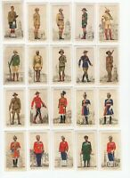 1938 John Player Military Uniforms of British Empire Tobacco Cards Complete Set