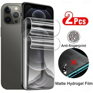 2Pcs Hydrogel Film For iPhone 13 Pro Max 12 Pro Max XR 8 7 Soft Screen Protector