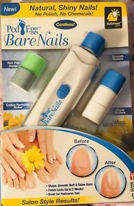 PedEgg Bare Nails Electronic Nail Care System Buff & Shine Nails - As Seen on TV