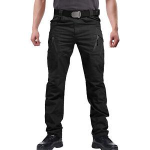 Herren Outdoor Tactical Hose Baumwolle Cargo Hose Trousers Taschen Jagd Wandern