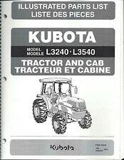 Kubota L3240 L3540 Tractor Illustrated Parts Manual 97898-23520