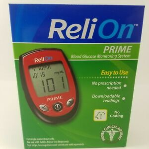 Blood Glucose Monitoring System Sugar ReliOn Prime 701103 Red