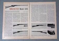 Vintage 1963 Winchester Model 1895 Shotgun Rifle 3-Page Article