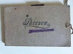 Skizzenbuch Fritz Claßen 1913, Jever Oldenburg, Kunst, Malerei, Bleistiftzeichnu