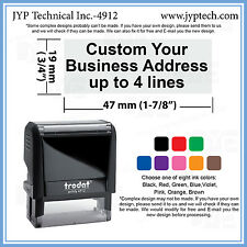 Custom Text up to 4 Lines or signature Trodat 4912 Self-inking Rubber Stamp