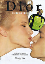 PUBLICITE ADVERTISING 084 1995 DIOR tendre poison, fleurs de tendresse