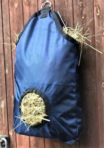 UK SELLER LARGE SLOW FEED HAY BAG FEEDING HOLE NET FOR HORSE TRICKLE FEED PONY