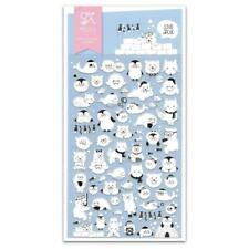 CUTE LOVE ARCTIC STICKERS Sheet Polar Bear Seal Penguin Craft Scrapbook Sticker