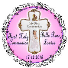 First Holy Communion Girls Religious Edible Icing Cake Image Celebration Topper