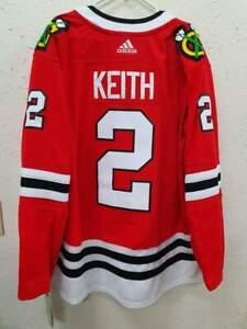 AUTHENTIC ADIDAS NHL JERSEY CHICAGO BLACKHAWKS ALT CAPT DUNCAN KEITH RED SZ 56