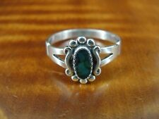 WM signed Labradorite Stone Bead Design Sterling Silver 925 Ring Size 8