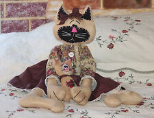 New, Handmade Primitive Kitty Ragdoll  Large