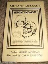 Mutant Message Down Under Marlo Morgan 1991 Signed RARE