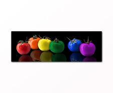 Modernes Küchenbild bunte Tomaten abstraktes Stillleben Bild auf Leinwand XXL