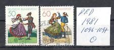 BRD 1981 Michel Nr. 1096-1097 gestempelt