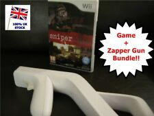 Wii SNIPER ELITE Game + Zapper / Light GUN Attachment Bundle Nintendo PAL UK