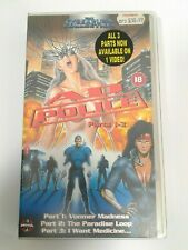 AD Police Parts 1 - 3 VHS Hard Case Anime 1996 The CyberPunk Collection Manga