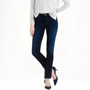 New J.Crew Reid dark wash skinny blue jeans pants women's size 27 / 4US $115