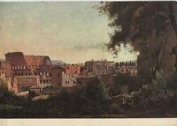 Alte Kunstpostkarte - Corot - Colosseum