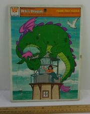 Petes Dragon frame tray puzzle Whitman 1970s on lighthouse Elliott Disney