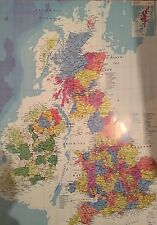 MAP OF GREAT BRITAIN UK ENGLAND SCOTLAND WALES & N IRELAND POSTER 50x70cm