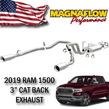 "Magnaflow Cat Back Exhaust fit 2019 RAM 1500 Polished Stainless Steel 3"" Bolt On"