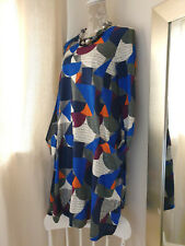 SEASALT Size 12 'Clear Light' Swing Dress Lagenlook Relaxed Fit with pockets BN