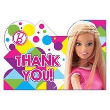 8 paquets BARBIE scintillant Fête d'anniversaire carte de Remerciements et