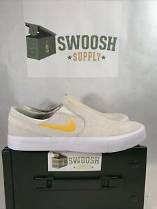 Nike SB Zoom Janoski Mens Size 10 Slip On Skate Shoes AT8899 100 White Gold