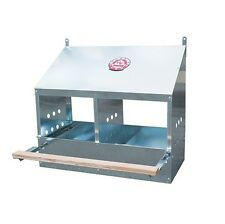 2 Hole Galvanized Metal Chicken / Poultry Nesting Box
