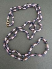 Vintage Amethyst Pearl 14k 14ct Gold Necklace 585 Gold Clasp