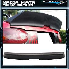 90-97 Mazda Miata IKON Style High Kick Duckbill Trunk Spoiler Lip Primer Black