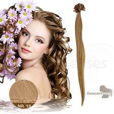 50cm 60cm -1g- Human Hair ECHTHAAR EXTENSIONS HAARVERLÄNGERUNG KERATIN BONDING
