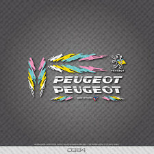 0384 Peugeot Bicycle Frame Stickers - Decals - Transfers