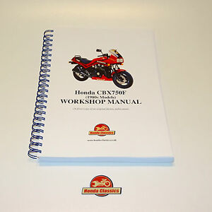 Honda CBX750F 1980s Factory Workshop Shop Manual Book. Reproduction. HWM044