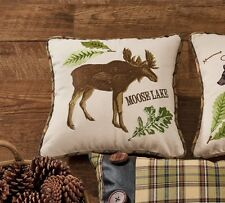 MOOSE LAKE ACCENT PILLOW : BROWN PLAID CABIN LODGE RUSTIC TOSS CUSHION