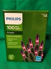 Philips 100 Purple Mini Lights Indoor Outdoor Christmas Halloween Holiday