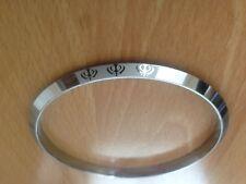 Steel Sikh Khanda Lazer print Kara Bracelet Bangle 7.5cm Diameter